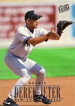 1996 Fleer Ultra 386 Derek Jeter Baseball Card