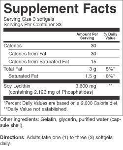 Country Life - Natural Lecithin, 1200 mg, 19 Grains - 100 Softgels