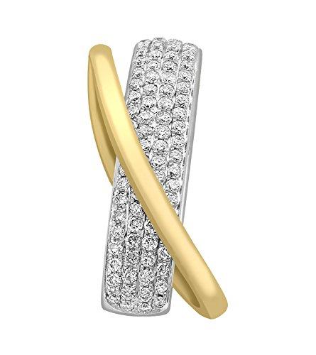 Carissima Gold Pendentif Or - 750/1000 Or Bicolore Diamant Femme 2.3 centimeters