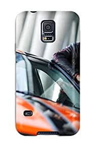 Tpu Case Cover Compatible For Galaxy S5/ Hot Case/ Chevrolet Camaro Bumblebee Edition