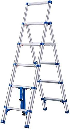 ZfgG Escalera telescópica de aluminio multiuso telescópica escalera plegable portátil de ingeniería escaleras con ruedas multiuso escalera plegable para loft compacto con ruedas, azul: Amazon.es: Bricolaje y herramientas