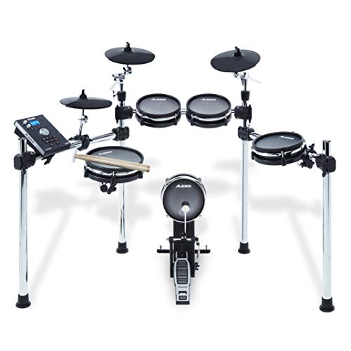 Alesis Command Mesh Kit-8-Piece Electronic Drum Kit with Mesh Heads, Chrome Rack and Command Drum Module including 70 Kits, 600+ sounds, 60 Backing Tracks, USB Sample Loading and USB/MIDI Connectivity