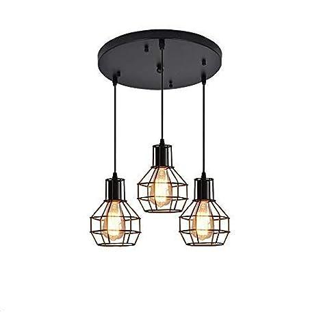 3 Lámpara Plato redondo Moderno Vintage Industrial Loft Metal ...
