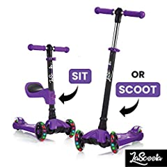 LaScoota scooter is a great starter, with all the reassuring features you'd want for beginners  Our advanced scooter features everything you love, with a couple of innovative extras. You child can scoot standing or sitting and the T-bar has 4...