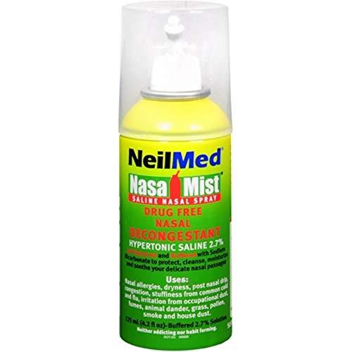 NeilMed Nasal Mist Extra Strength Nasal Saline Spray, 4.2 fl oz (Pack of 2)