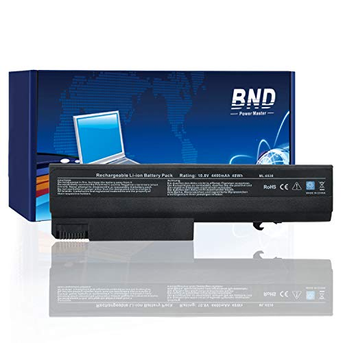 BND Laptop Battery for Compatible with HP EliteBook 8440P 6930P 8440W/ Compaq 6730B 6735B 6530B / ProBook 6440B 6445B 6540B 6545B, fits P/N 482962-001 HSTNN-UB69-12-Month-Warranty[4400mAh/48Wh Li-ion] (Elitebook 8440p Battery)