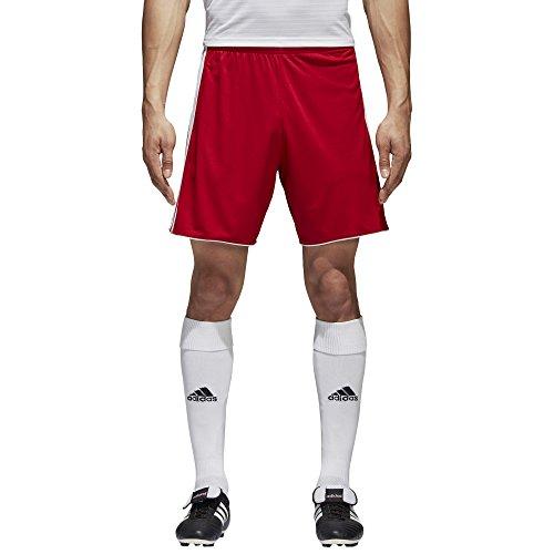 (adidas Men's Soccer Tastigo 17 Shorts, Power Red/White, Medium)