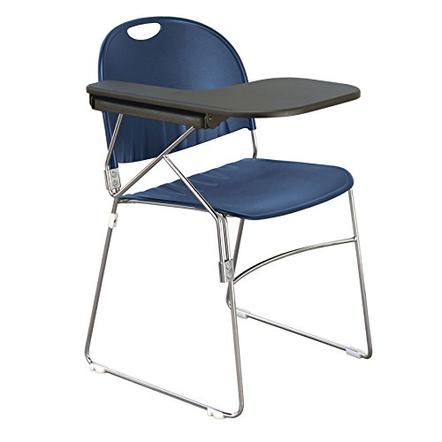 KFI Seating Polypropylene Sled School Chair with Writing Tablet, Navy Finish, Right Tablet by KFI Seating