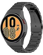 Tixiyu Rem ersättningsband kompatibla för Samsung Galaxy Watch4 40/44mm Galaxy Watch 4 Classic 46mm/42mm rostfritt stålrem med kedjelänk borttagningsverktyg