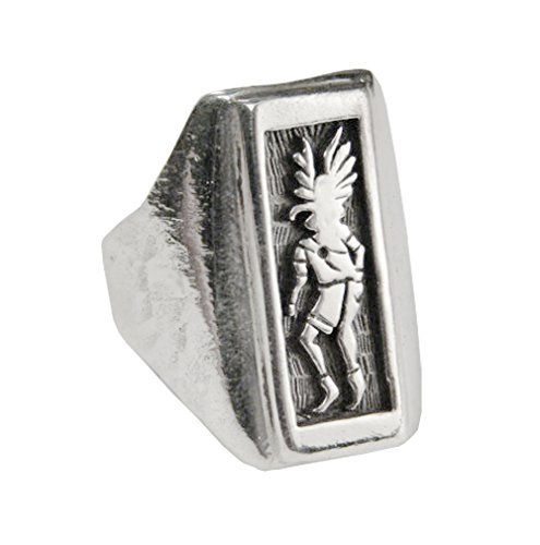 Sterling Silver Kachina Ring Size 12