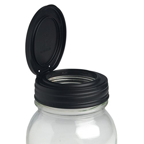 ReCAP Mason Jars FLIP, Regular Mouth, Canning Jar Lid, Black