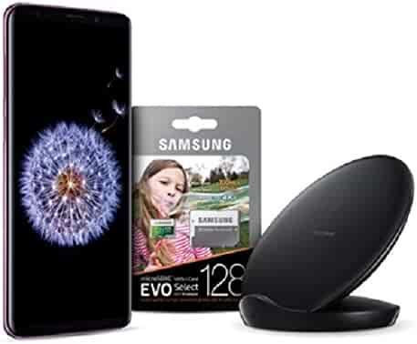 Samsung Galaxy S9+ Unlocked Smartphone With Free SD Card And Fast Charge Wireless Charger - Midnight Black