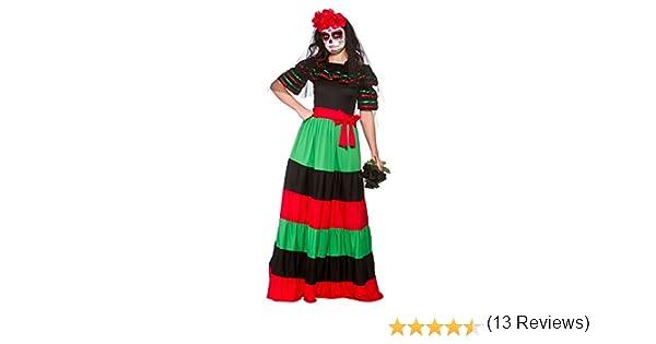 Wicked - Disfraz de Mexicana para el Día de los Muertos - 46-48cm ...