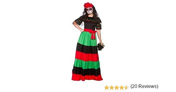 Wicked - Disfraz Mexicana para el Día de los Muertos - 42-44cm ...