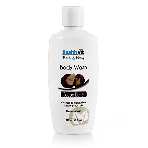 Healthvit Bath and Body Cocoa Butter Bodywash, 200ml