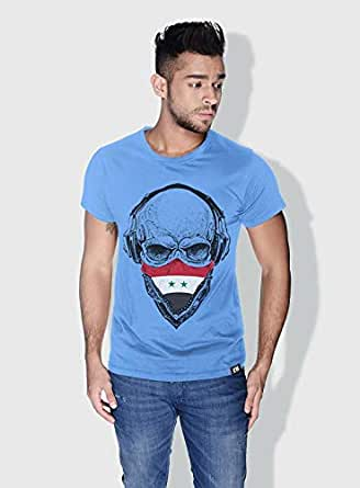 Creo Syria Skull T-Shirts For Men - S, Blue