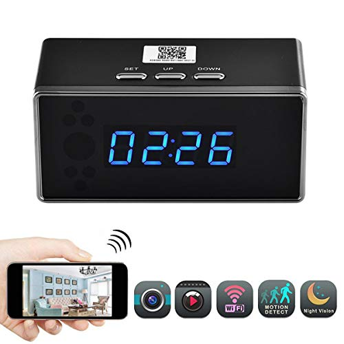 PANNOVO WIFI Camera Alarm Clock HD 720P 140 Degree Angle Wir