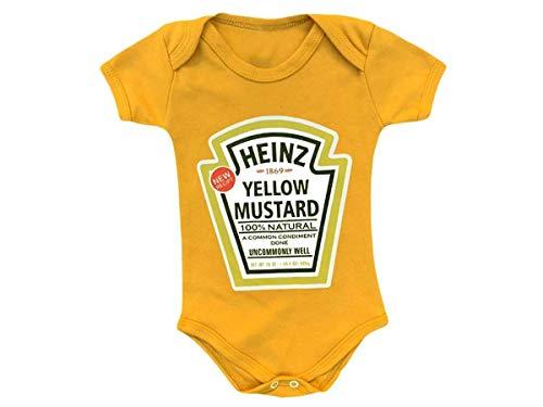 Body Bebê Mostarda Heinz