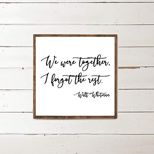 Dozili We were Together I Forgot The Rest Walt Whitman Poetry Love Decor Famous Poems Romantic Art Couples Gift 12