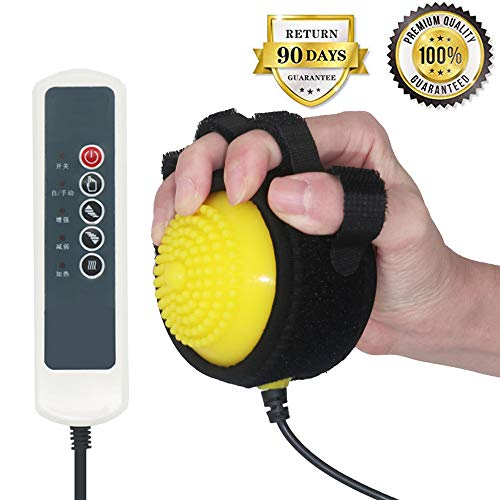 Healsmile® Electric Hot Compress Stroke Hemiplegia Finger Recovery Equipment Hand Training Electric Fingers Massager 110V-220V Infrared Therapy Finger Passive Training