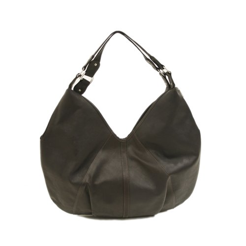 Piel Leather Large Hobo, Chocolate, One Size