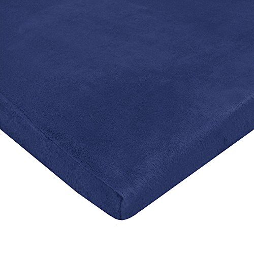 TL Care Heavenly Soft Chenille Fitted Pack 'n Play Playard Sheet, Navy