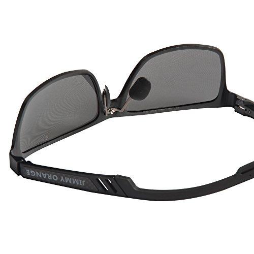 de Marco Hombres de Gafas Jimmy Espejada Wayfarer Gafas montura Mujeres Lente Sol de con lentes de negros Orange Aluminio Sol Calidad Magnesio Polarizadas Alta JO661 gris qa7a0t8r