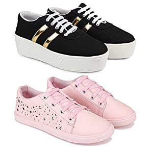 Shoefly Casual Loafers, Sneakers Shoes for Woman Pack of 2 Combo(O)-1044-1253