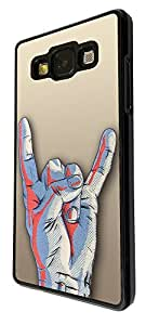507 - love peace Rock and Roll hand Design For Samsung Galaxy Grand Prime Fashion Trend CASE Back COVER Plastic&Thin Metal