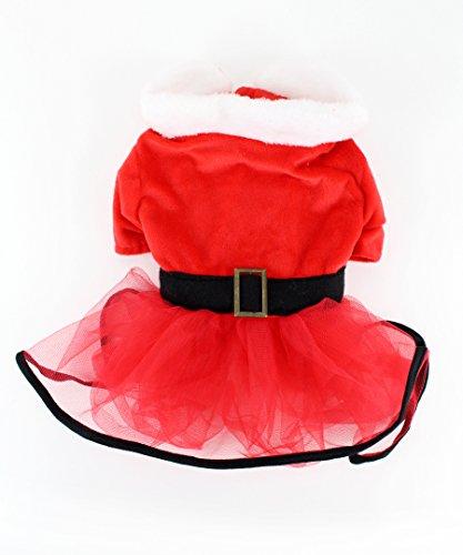 Mrs. Claus Santa Tutu Dog Dress by Midlee (XX-Large)