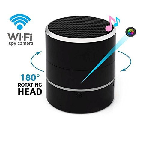 Bluetooth Speaker Hidden Camera 1080P WIFI HD Spy Cam Wireless Mini Camera Rotate 180° Video Recorder Motion Detection Real-Time View Nanny Cam
