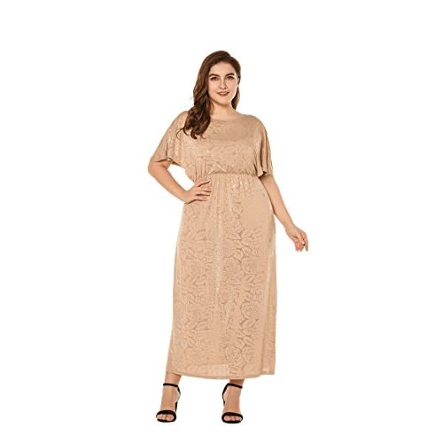 Hot ESPRLIA Women\'s Plus Size Sequin Party Club Cocktail Maxi Dress x0uw49de