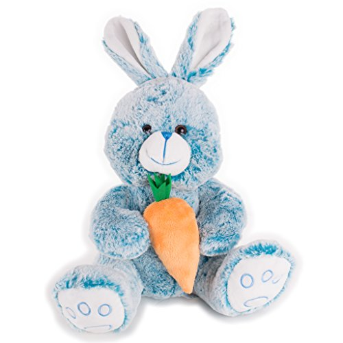 Veil Entertainment Soft Stuffed Rabbit with Carrot Easter Bunny Boy 14