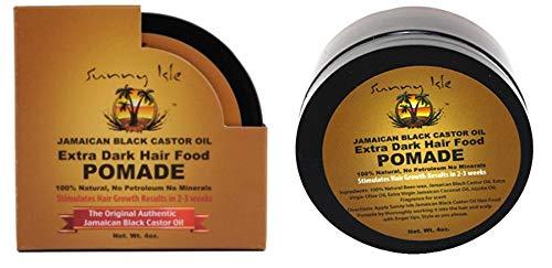 Sunny Isle Extra Dark Jamaican Black Castor Oil Hair Pomade 4 oz. - Pack of 2
