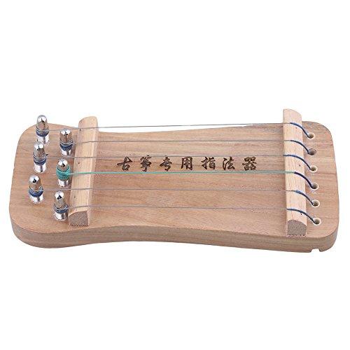 BQLZR 210x 92x 35mm à 6cordes en bois massif Guzheng chinois Cithare doigt d'exercice pour la main doigt de résistance pour exercices de sensibilité Instrument avec un sac