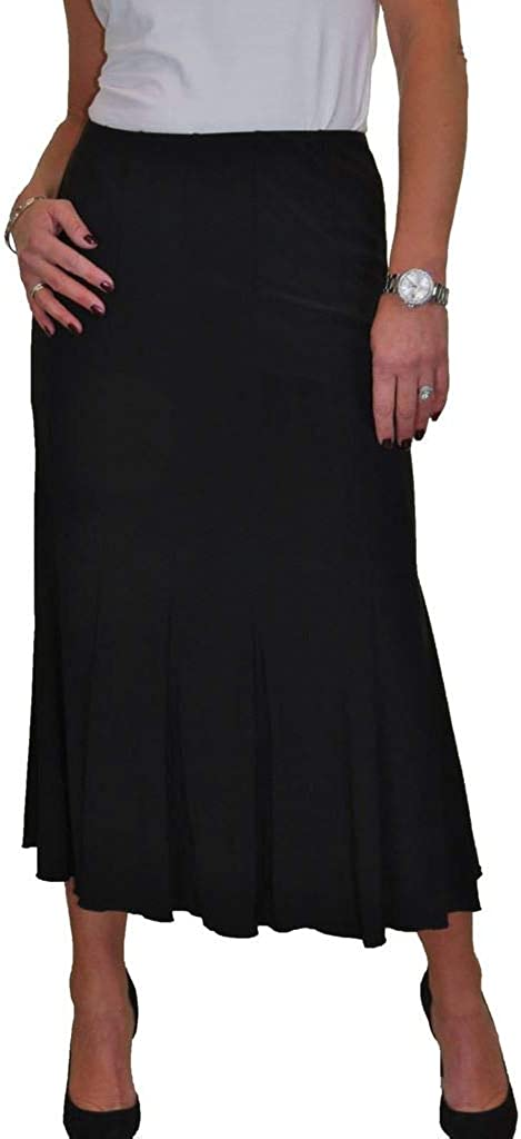 icecoolfashion Womens Smart Maxi Lined Flare Panel Fishtail Midi Skirt Day Workwear Business Office Evening 10-22
