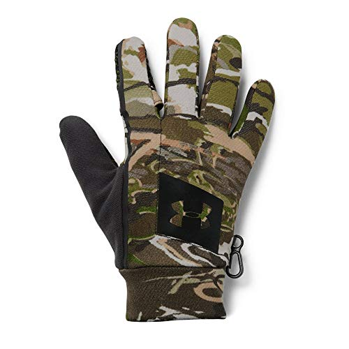 Under Armour Men's Hunt Early Season Fleece Glove, UA Forest Camo (940)/Black, Large