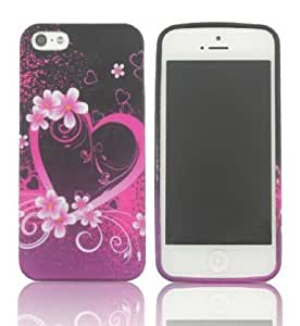 SUPWISER-5SHUA32 New Flower TPU Rubber Skin Case Compatible with Apple iPhone 5/5S Pattern 10