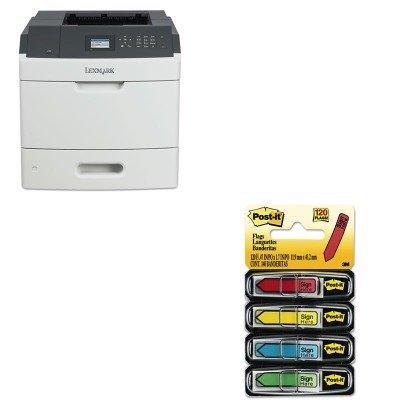 KITLEX40G0110MMM684SH - Value Kit - Lexmark MS810dn Laser Printer (LEX40G0110) and Post-it Arrow Message 1/2amp;quot; Flags (MMM684SH)
