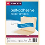 Smead Self-Adhesive Folder Divider, Side Flap Style, Letter Size, Manila, 100 per Box (68021)