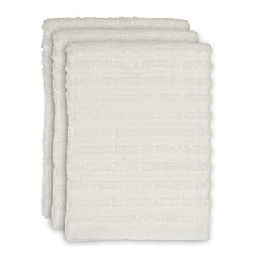 Ritz Royale Collection Dish Cloth Set, White, 3-Piece