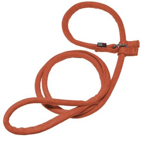 (W1 7.6cm L60 , orange) Dogline Soft and Padded Comfort Microfiber Round Slip Lead for Dogs