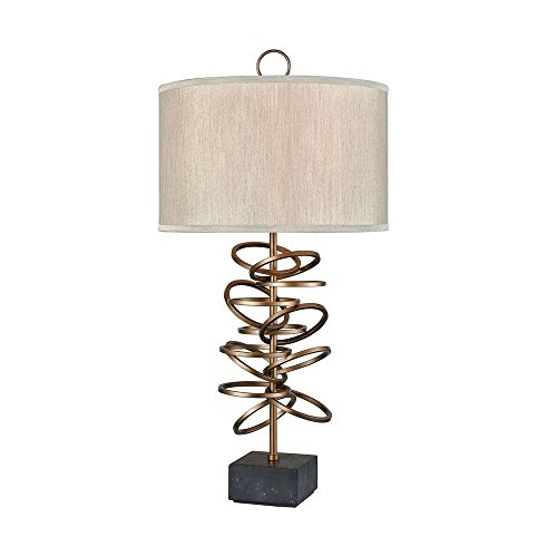 - Elk Lighting D3487 Suspense Floor Lamp, Gold Plated