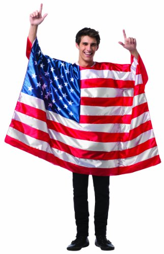[Rasta Imposta Men's Flag Tunic- USA, Red/White/Blue, One Size] (Costumes Usa)