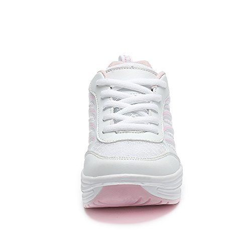 For Platform Womens Pink Thick Walking Sneakers Tennis Wedges Rocker Shoes Saguaro Toning Sole vqwHvp