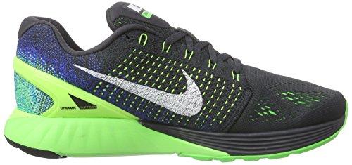 Nike Lunarglide 7 Zapatillas de running, Hombre Varios Colores - Mehrfarbig (Anthracit/Summit White/Gym Royal/Blue Lagoon)