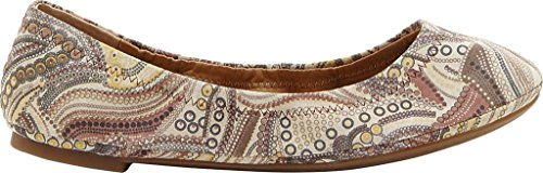 Women's Flat Emmie Ballet Brown Multi Lucky aqHw7zwC