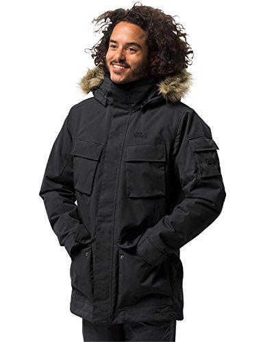 Noir Glacier Homme Parka Jacket Xl Canyon Pour Jack Wolfskin w07F0q
