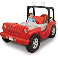 Jeep Toddler Bed, Red, LED lights in roll bar (rotates 360 degrees)