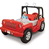 Jeep Toddler Bed, Red, LED lights in roll bar (rotates 360 degrees) For Sale